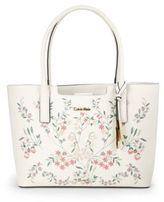 Calvin Klein Laser-Cut Leather Tote