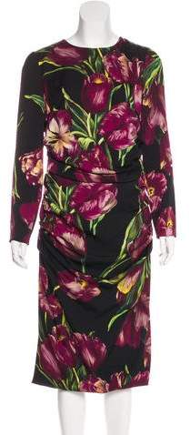 Dolce & Gabbana 2016 Tulip Print Midi Dress