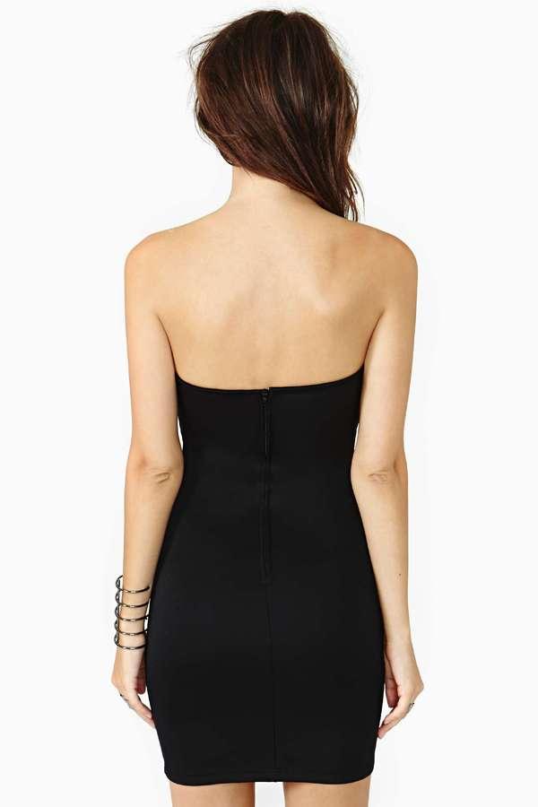 Nasty Gal Deep Blaze Dress - Black