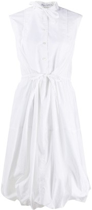 J.W.Anderson Collarless Balloon Shirt Dress