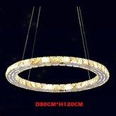 lanmei Ceiling Light lanmei LED Crystal Pendant Lights Lighting Lamps Modern Fixtures Amber K9 Crystal Round Single Ring 80CM