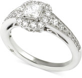 Marchesa Certified Diamond Princess Engagement Ring (1 ct. t.w.) in 18k White Gold