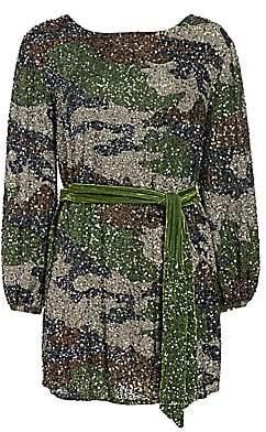 RetrofÃate Women's Grace Sequin Camo Mini Dress