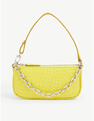 BY FAR Rachel mini crocodile-embossed deadstock-leather shoulder bag