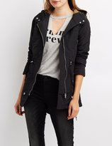 Charlotte Russe Coated Anorak Hooded Jacket