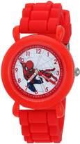 Marvel Boy's 'Spider-Man' Quartz Plastic and Nylon Casual Watch, Color: (Model: WMA000231)