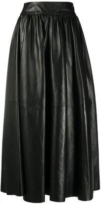Simonetta Ravizza High-Waisted Leather Skirt