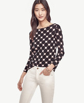 Ann Taylor Petite Mixed Circle Sweater