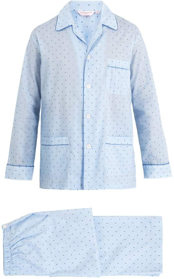 Derek Rose Nelson striped cotton-batiste pyjama set