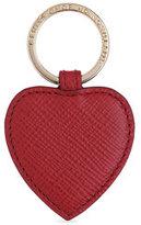 Smythson Heart Leather Keychain