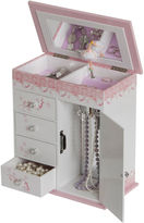 Asstd National Brand Pink & White Ballet Slippers Musical Jewelry Box