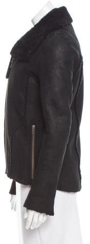 Helmut Lang Shearling Pointed Collar Jacket