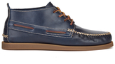 Sperry A/o Wedge Leather Chukka Boots Navy