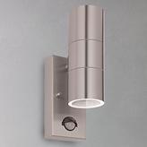 John Lewis Sabrebeam 2 Light LED Outdoor Light with PIR, Steel