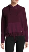 Betsey Johnson Space Dye Hooded Crop Sweater