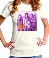 Goodie Two Sleeves Ivory Jefferson Lavender Group Tee - Women