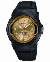 Casio Mens Champagne Dial Black Resin Strap Sport Watch MW600F-9AV