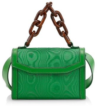 Ganni Leather-Trimmed Belt Bag