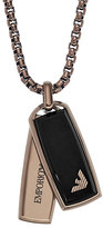 Emporio Armani Men's Ion Plated Dog Tag Necklace