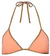Tooshie Reversible Orange Triangle Bikini Top