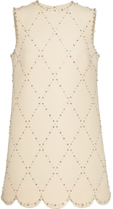 Miu Miu Crystal-Embellished Shift Dress