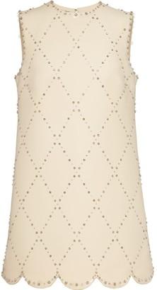 Miu Miu Crystal-Embellished Shift Dress