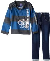 """Only Kids Apparel """"Monster Truck Rally"""" Rugby Henley & Jeans Set - Baby Boy"""