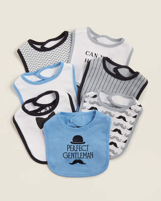 Hudson Baby Newborn Boys) 7-Pack Perfect Gentleman Bib