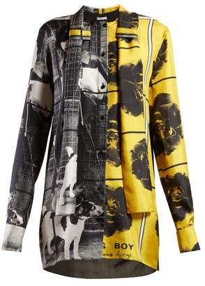 J.W.Anderson X Gilbert & George-print Silk Blouse - Womens - Yellow Multi
