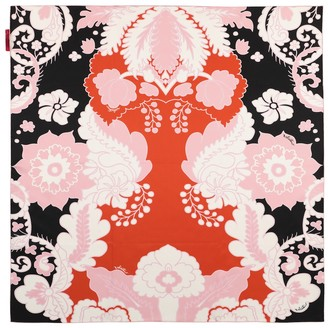 Valentino floral silk twill scarf