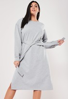Missguided Plus Size Grey Midi Sweater Dress