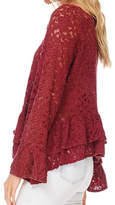 Anama Bell-Sleeve Lace Blouse