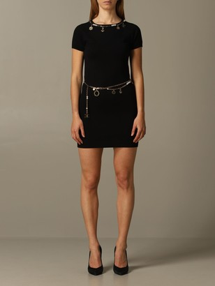 Elisabetta Franchi Dress With Metal Chains And Pendants