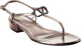 Valentino Vlogo 20 Laminated Leather Sandal