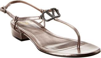 Valentino Vlogo Leather Sandal