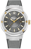 Salvatore Ferragamo F-80 Stainless Steel Watch, Gray