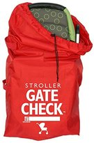J L Childress Gate Check Bag For Standard and Double Strollers, Red by