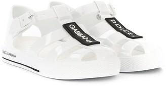 Dolce & Gabbana logo patch jelly shoes
