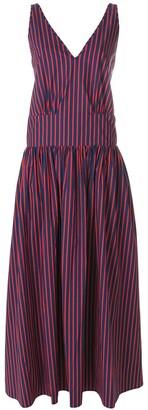 La DoubleJ Striped V-Neck Dress
