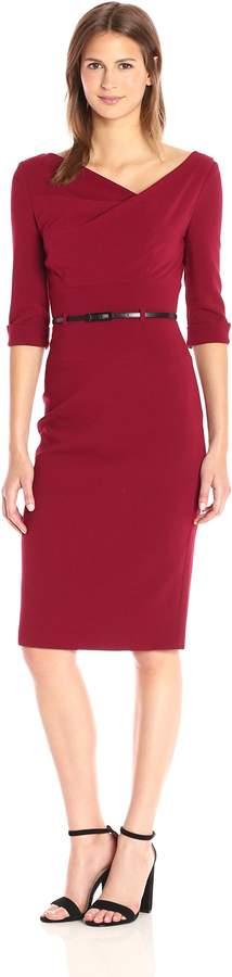 Black Halo Women's 3/ Sleeve Jackie O Dress