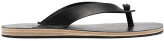 Jil Sander Stud-Embellished Leather Flip Flops