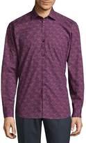 Jared Lang Men's Casual Cotton Button-Down Shirt