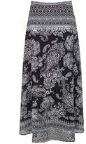 Select Fashion Fashion Womens Black Border Floral Maxi Skirt - size 10