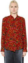 Y's Floral Jacquard Wool Shirt