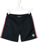 Moncler side stripe swim shorts - kids - Polyamide - 14 yrs