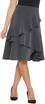 Vince Camuto Tiered Ruffle Crepe Skirt