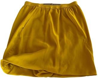 Rick Owens Yellow Viscose Skirts