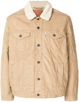 Levi's sherling denim jacket - men - Cotton/Acrylic/Polyamide/Viscose - L