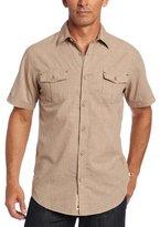 Dakota Grizzly Men's Emerson Short-Sleeve Super Fine Melange Shirt