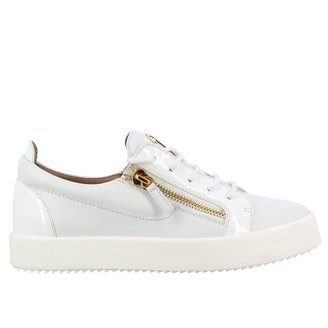 Giuseppe Zanotti Patent Leather Sneakers With Double Zips